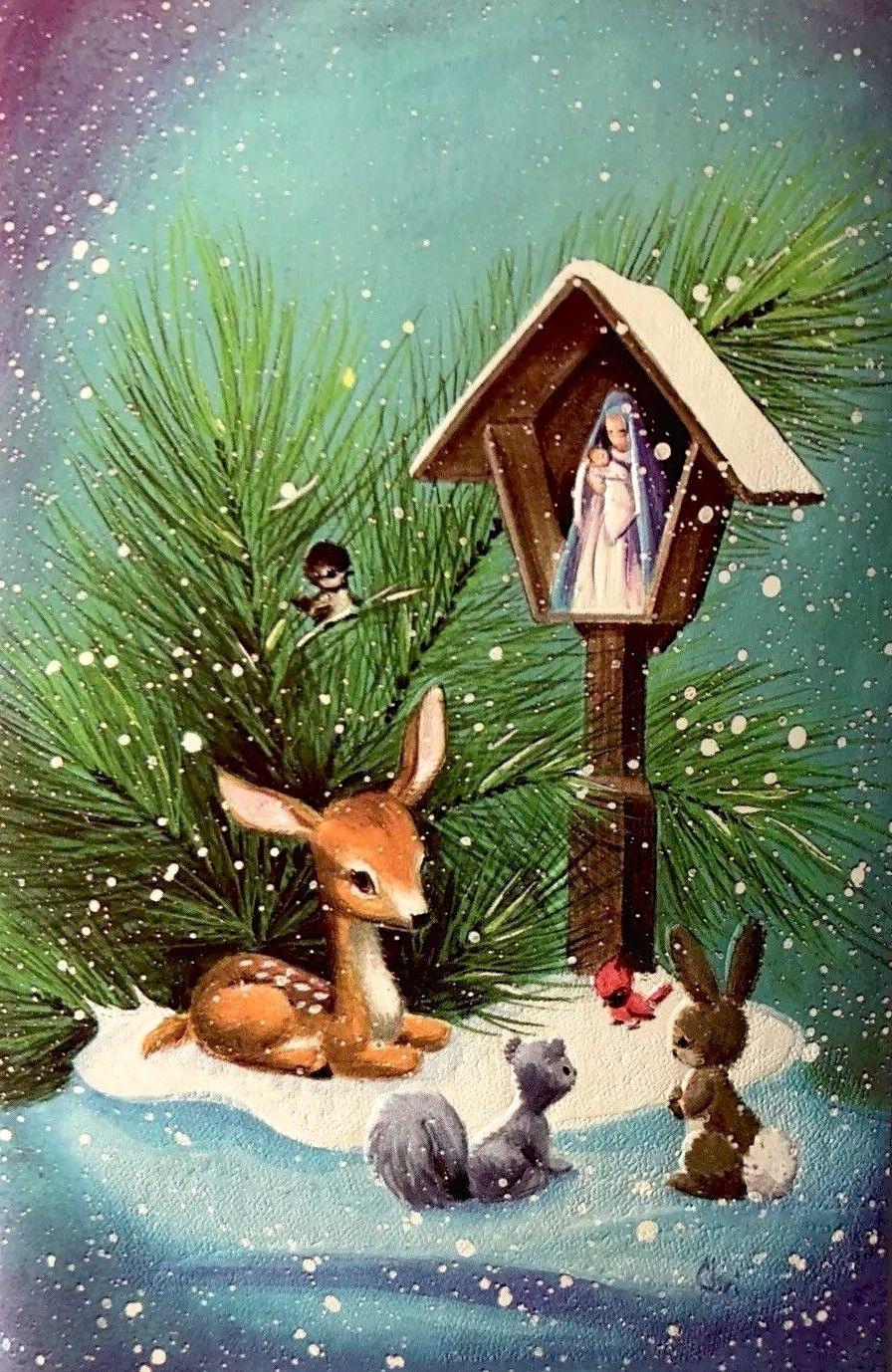 Vintage Christmas Card Christmas Card Art Christmas Art