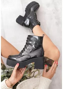 Buty Damskie Jesien 2019 W Domodi All Black Sneakers Wedge Sneaker Shoes