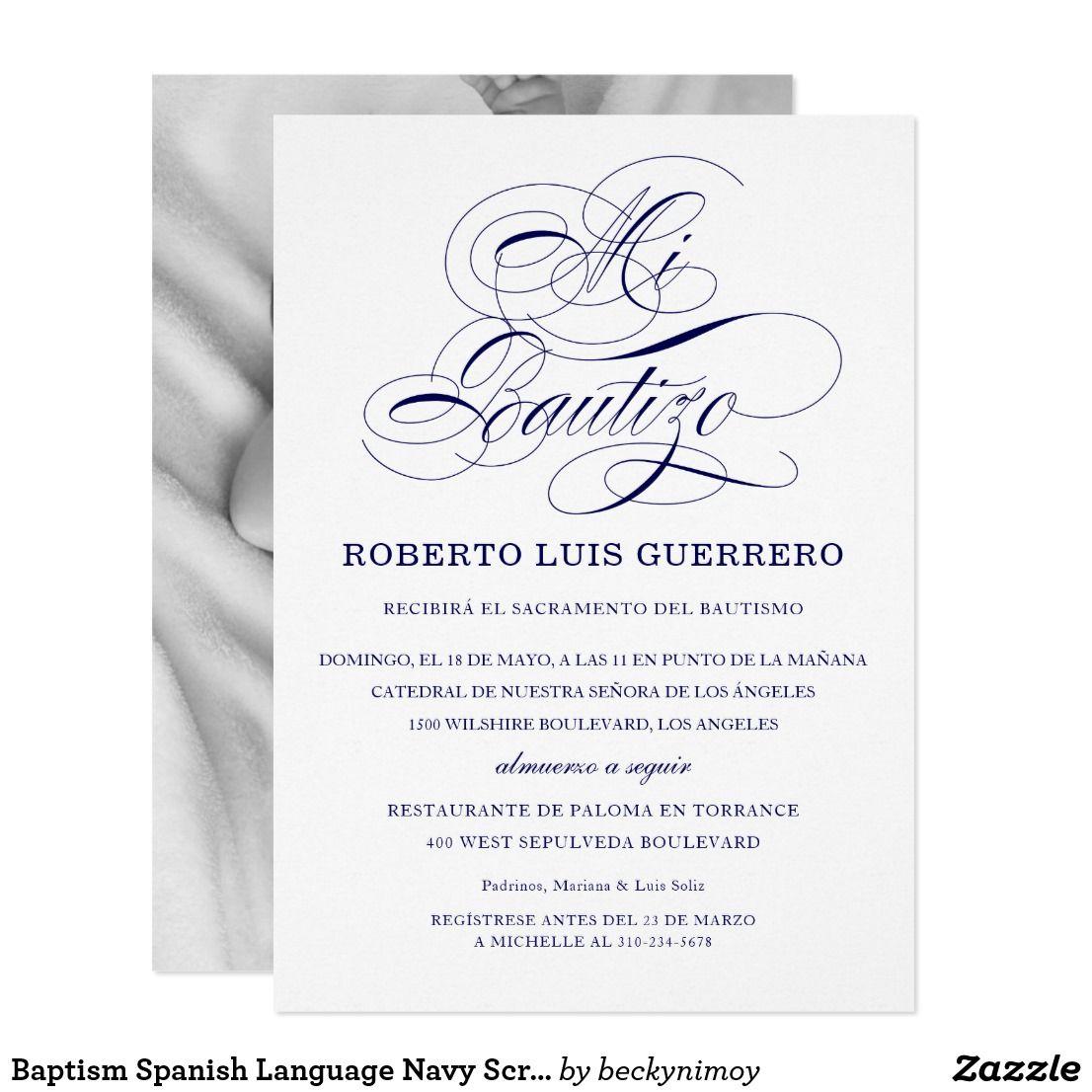 baptism spanish language navy