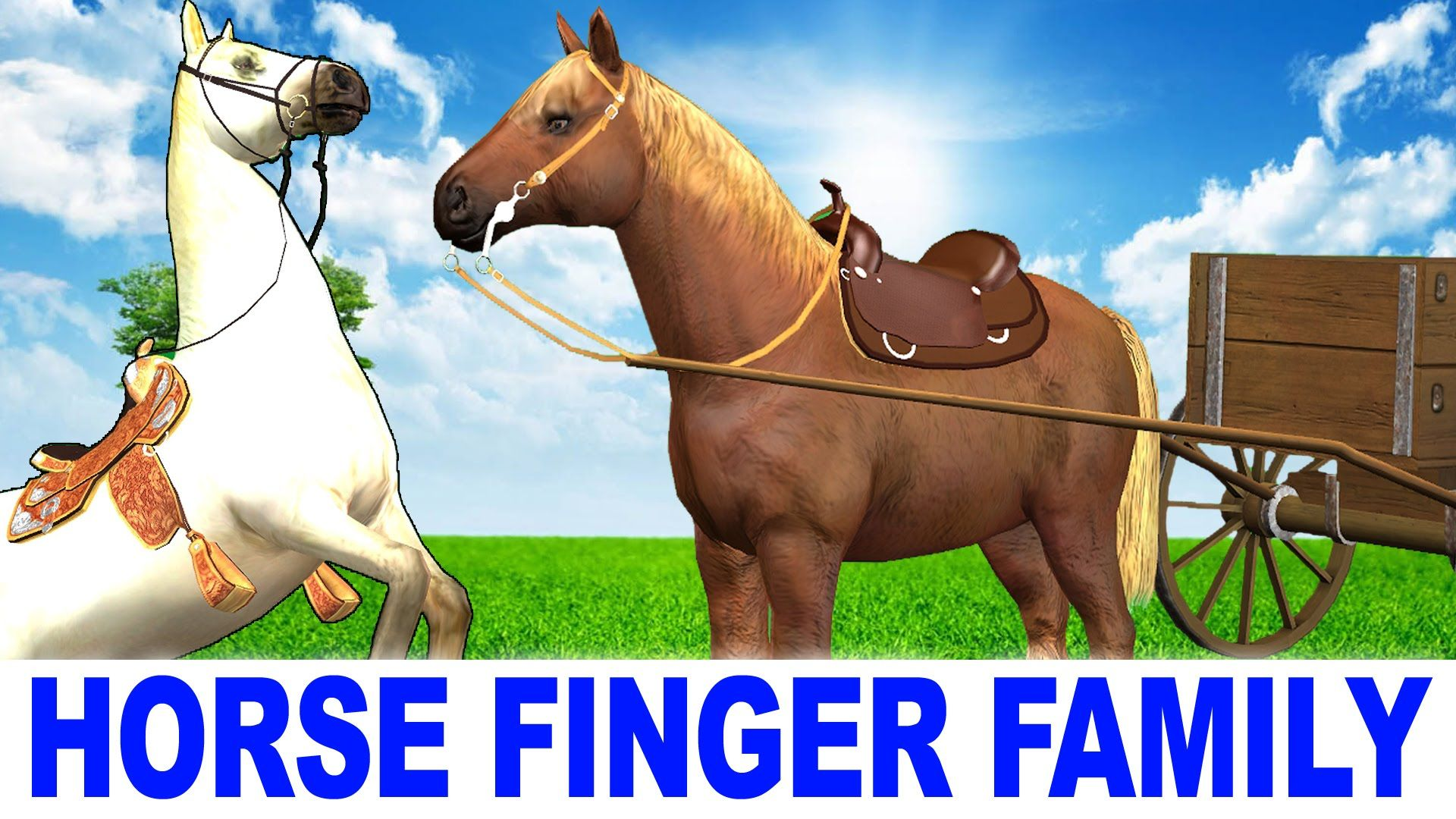 Nursery Rhymes Songs Horse Finger Family Children Kid