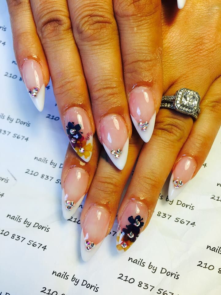 French Manicure Stiletto Nail   Nails   Pinterest   Manicure