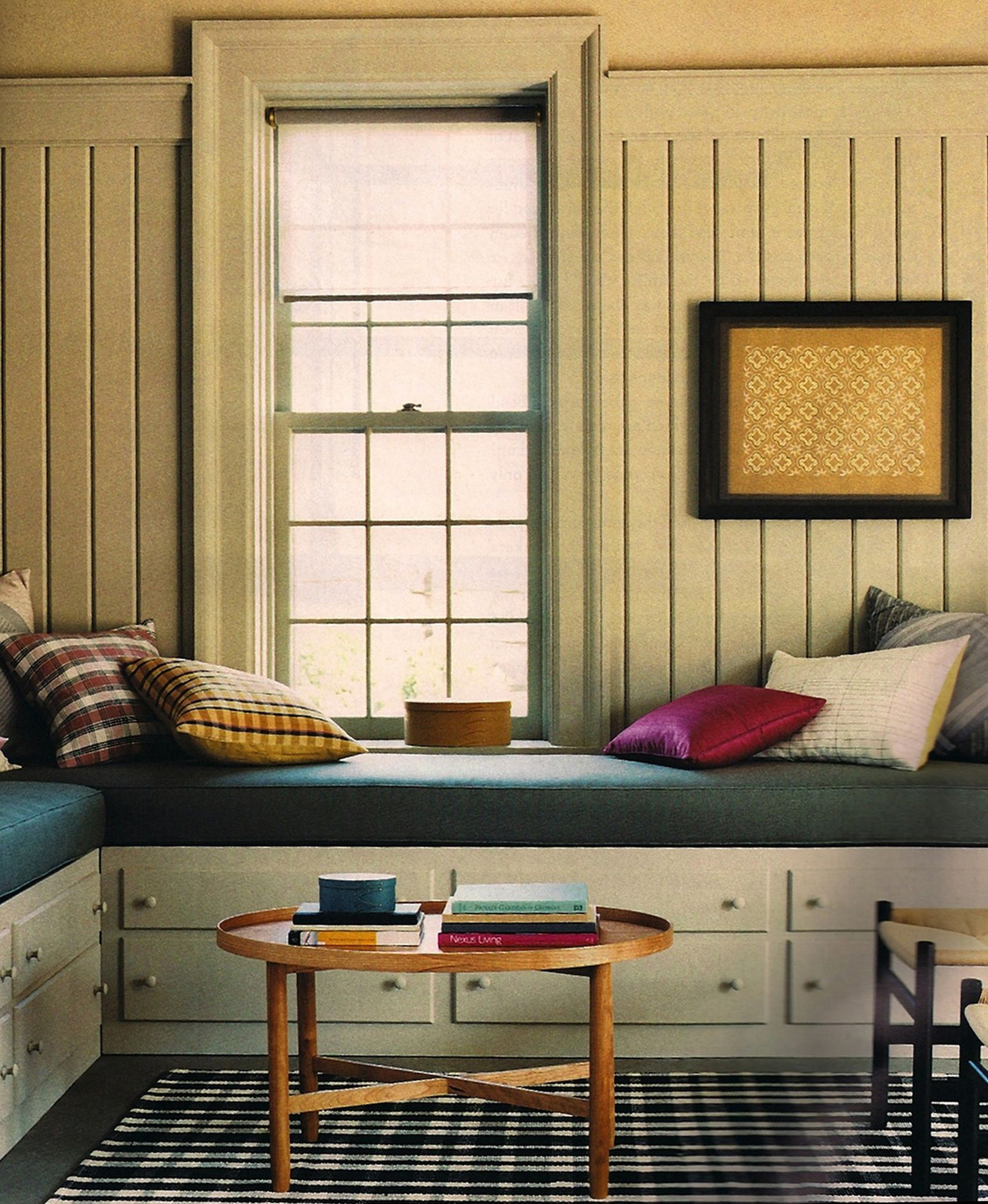Window seat ideas living room  i should probably just buy some plaid pillows instead of constantly