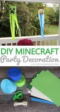 Wie man Minecraft Party Dekoration Windsäcke macht - #Dekoration #Minecraft #Party #Windsocken
