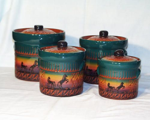Rustic Western Canisters