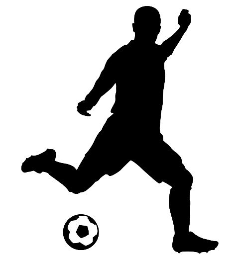 Soccer 01 Wall Decal Soccer Silhouette Sports Wall Decals Silhouette
