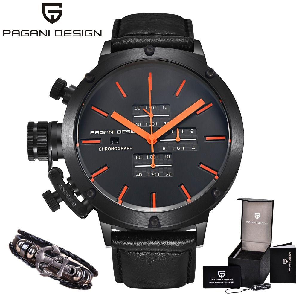 a15b0610a9e Mens Watches Top Brand PAGANI DESIGN Luxury Chronograph Waterproof Military  Quartz C Watch Relogio Masculino erkek kol saati Review