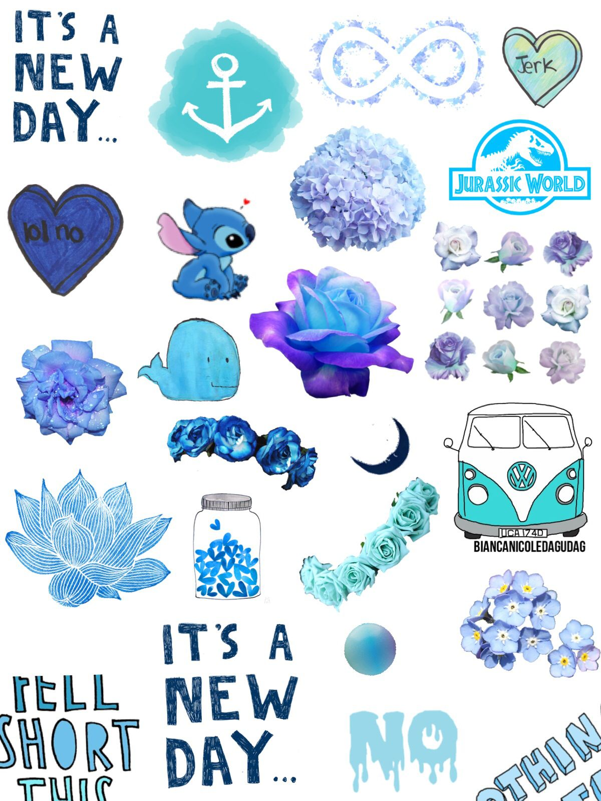голубые картинки для дневника фейками интернете