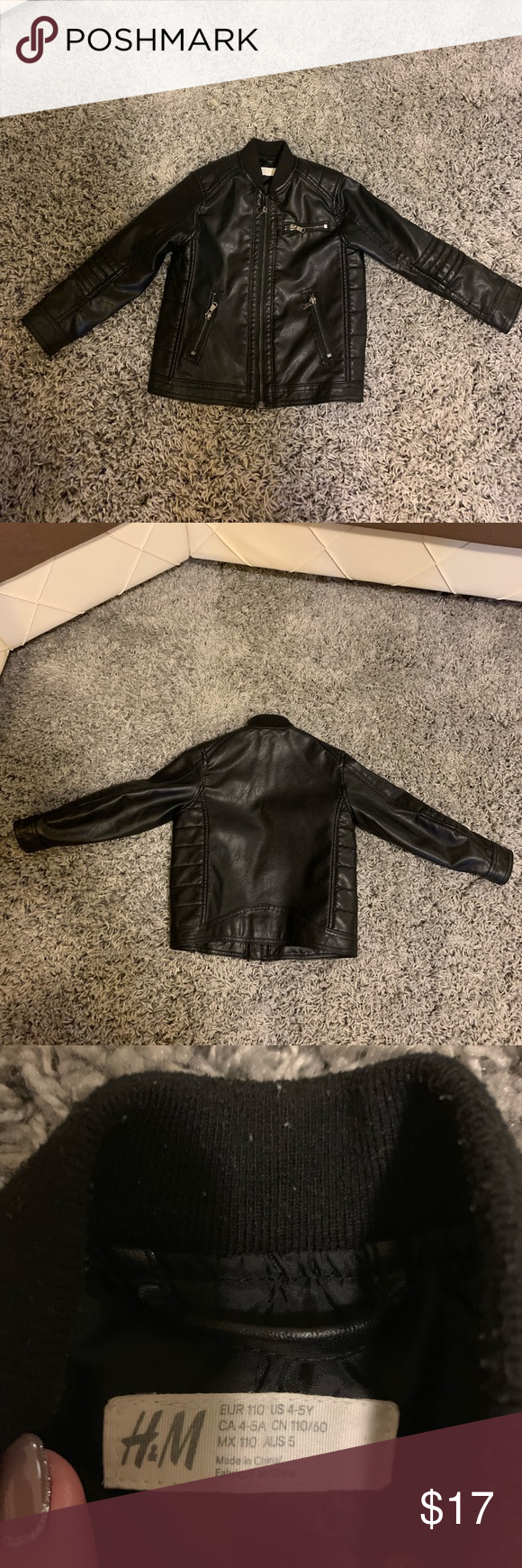 H And M Boys 4 5 Faux Leather Motorcycle Jacket Leather Motorcycle Jacket Faux Leather Motorcycle Jacket Faux Leather [ 1740 x 580 Pixel ]