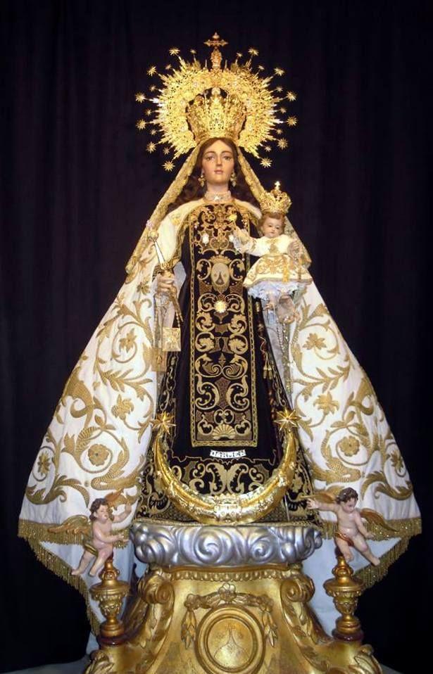 Nuestra Señora Del Carmen Ilustración Religiosa Imágenes De La Virgen Manto De La Virgen