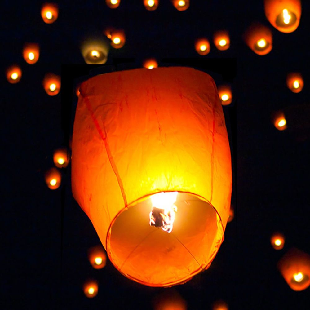 X chinese lanterns sky candle lamp for wedding party wish yellow
