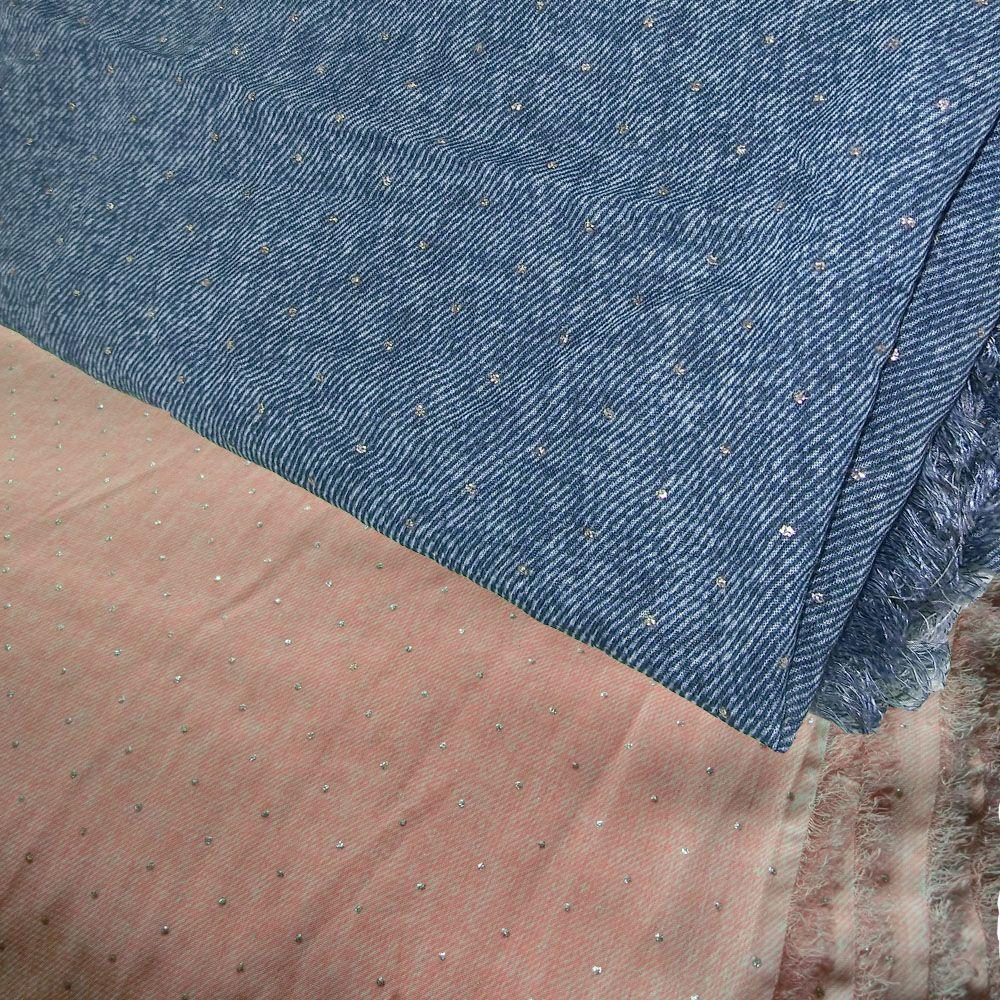 Jeans chiffon kleid
