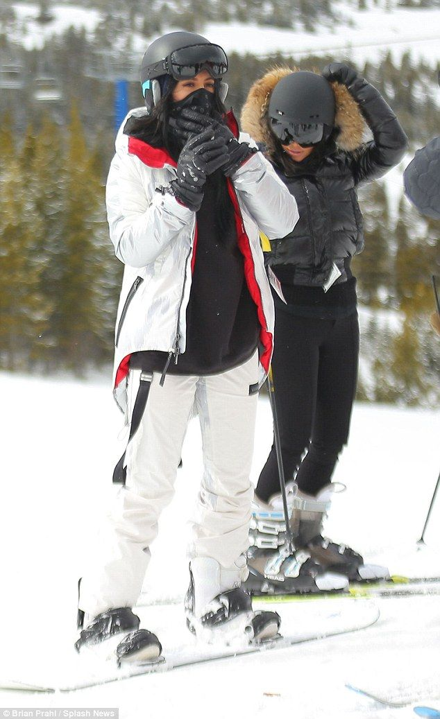 Sister act: Also hitting the slopes was Kylie Jenner, who decided to be a little but more ...