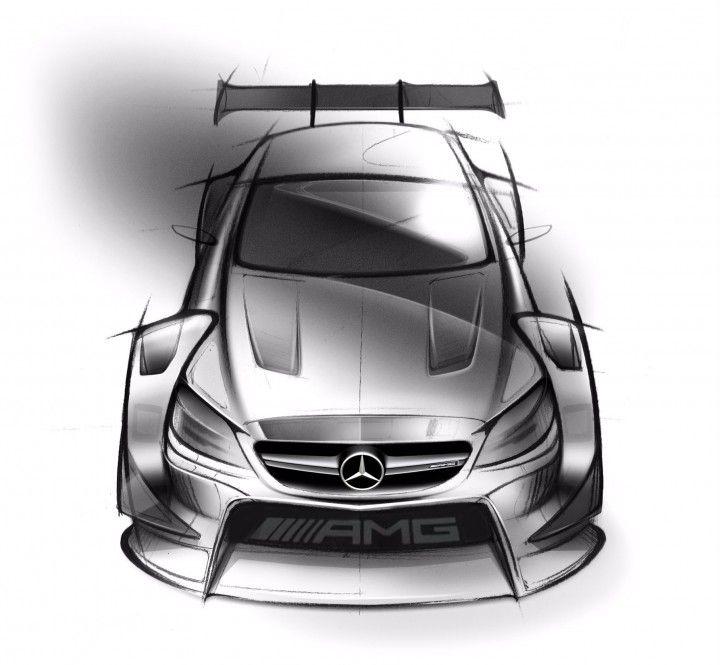Mercedes Amg C Dtm Race Car Design Sketch Automotive