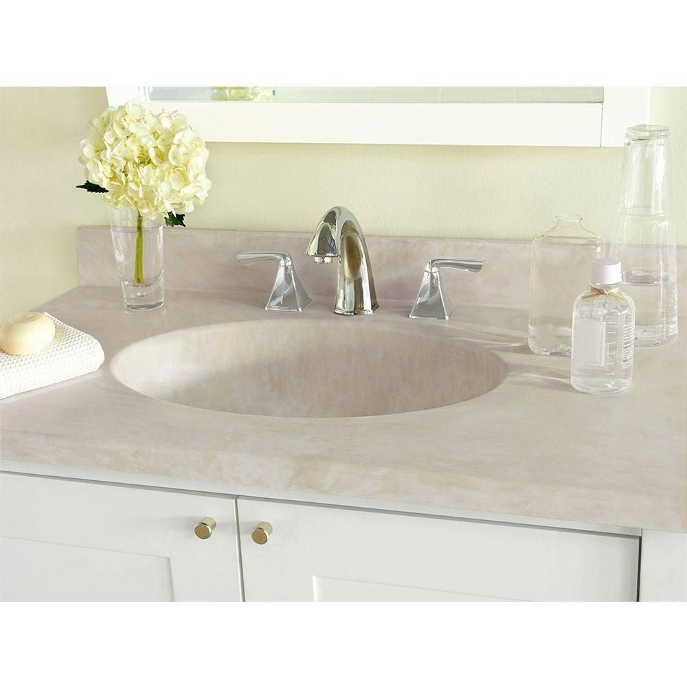 Swan Ellipse 43 In W X 22 In D Solid Surface Vanity Top With