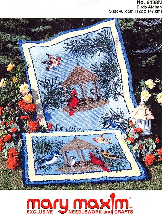 Birds afghan. Crochet this Graph-ghan with this wonderful pattern ...