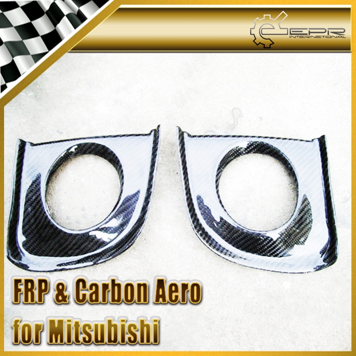 99.00$  Buy here - http://alilw0.shopchina.info/go.php?t=32466122751 - EPR Car Styling For Mitsubishi Evolution EVO 10 X Carbon Fiber Front Bumper Fog Light Cover Car Accessories 99.00$ #magazineonlinebeautiful
