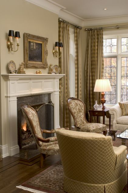 Beautiful Traditional Living Room Via Www Cmidesign Ca