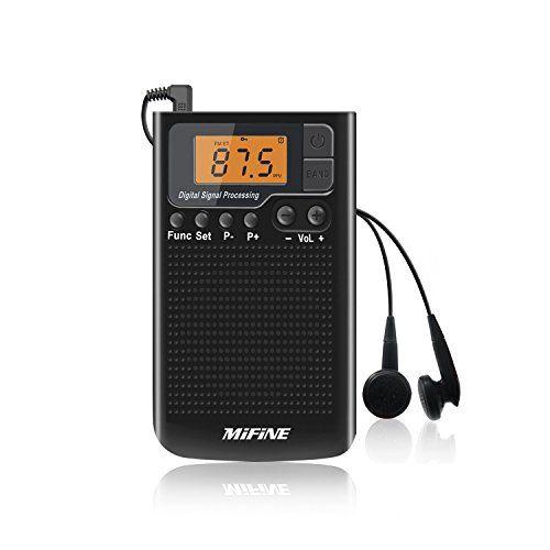 Portable AM FM Radio Rechargeable- Multifunctional Mini ...