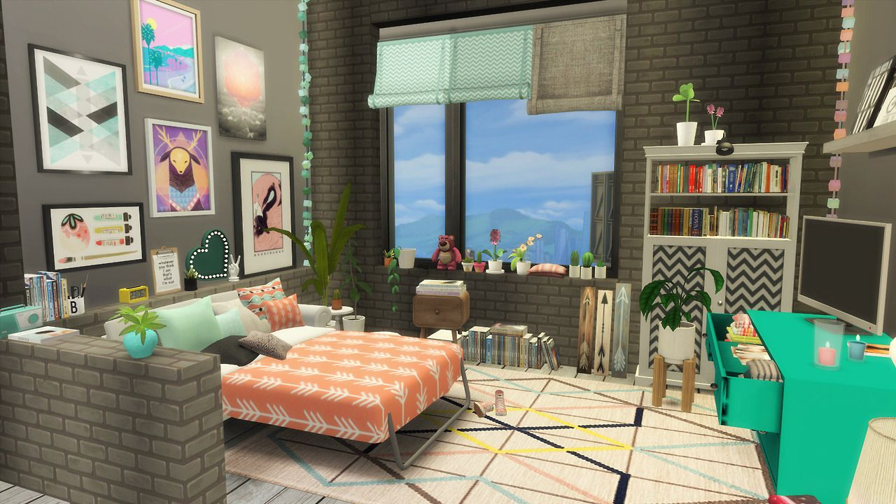 Laznye - TUMBLR STUDIO APARTMENT   Sims 4 Decoration ...