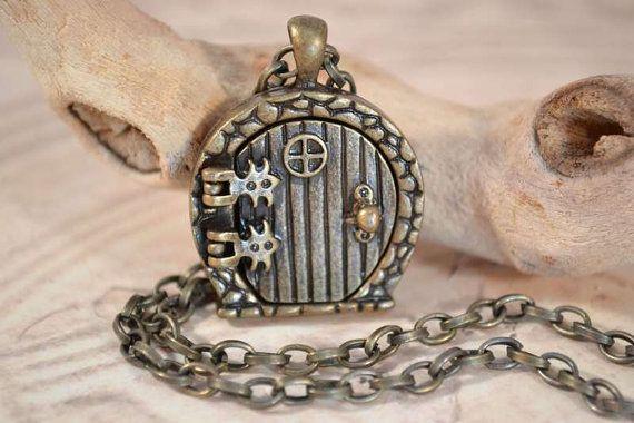 Fairy Door Locket Hobbit Door Necklace by TempletonTreasures, $16.00