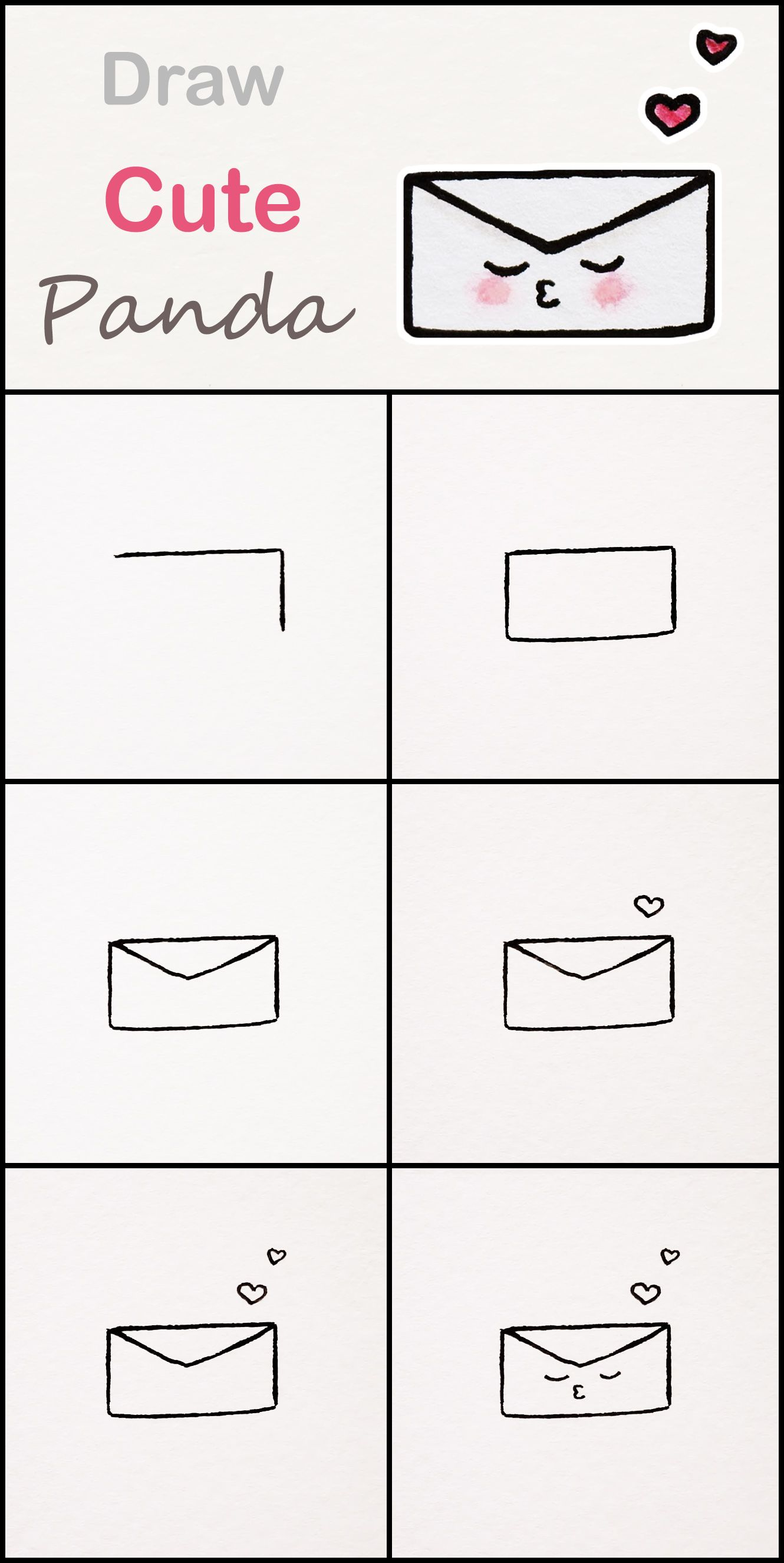 Learn How To Draw A Cute Envelope Step By Step Very