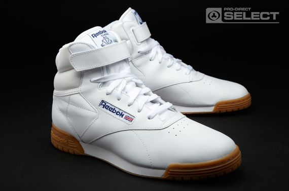 2e6bf4a8ed8 Reebok Trainers - Reebok Exofit Hi Clean Logo Int - Mens Trainers -  Basketball - White - Gum
