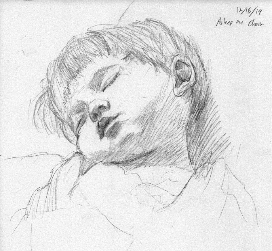 Quick Sketchbook Idea Sleeping Children In 2020 Easy People Drawings Sketches Of People Drawing People