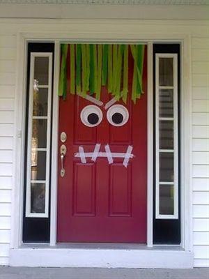 Very clever Halloween front door decor stuff i like ) Pinterest - decorating front door for halloween