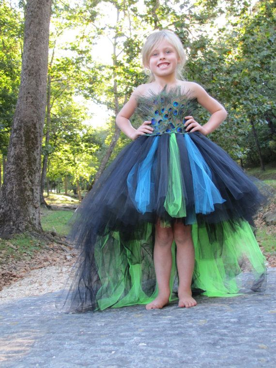 peacock costume feather dress flower girl feather tutu dress peacock dress flower girl dress. Black Bedroom Furniture Sets. Home Design Ideas