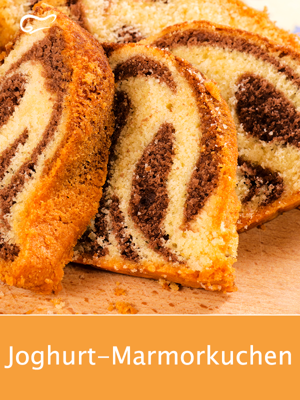 Photo of The juicy yoghurt marble cake is particularly easy with this recipe. #jo …