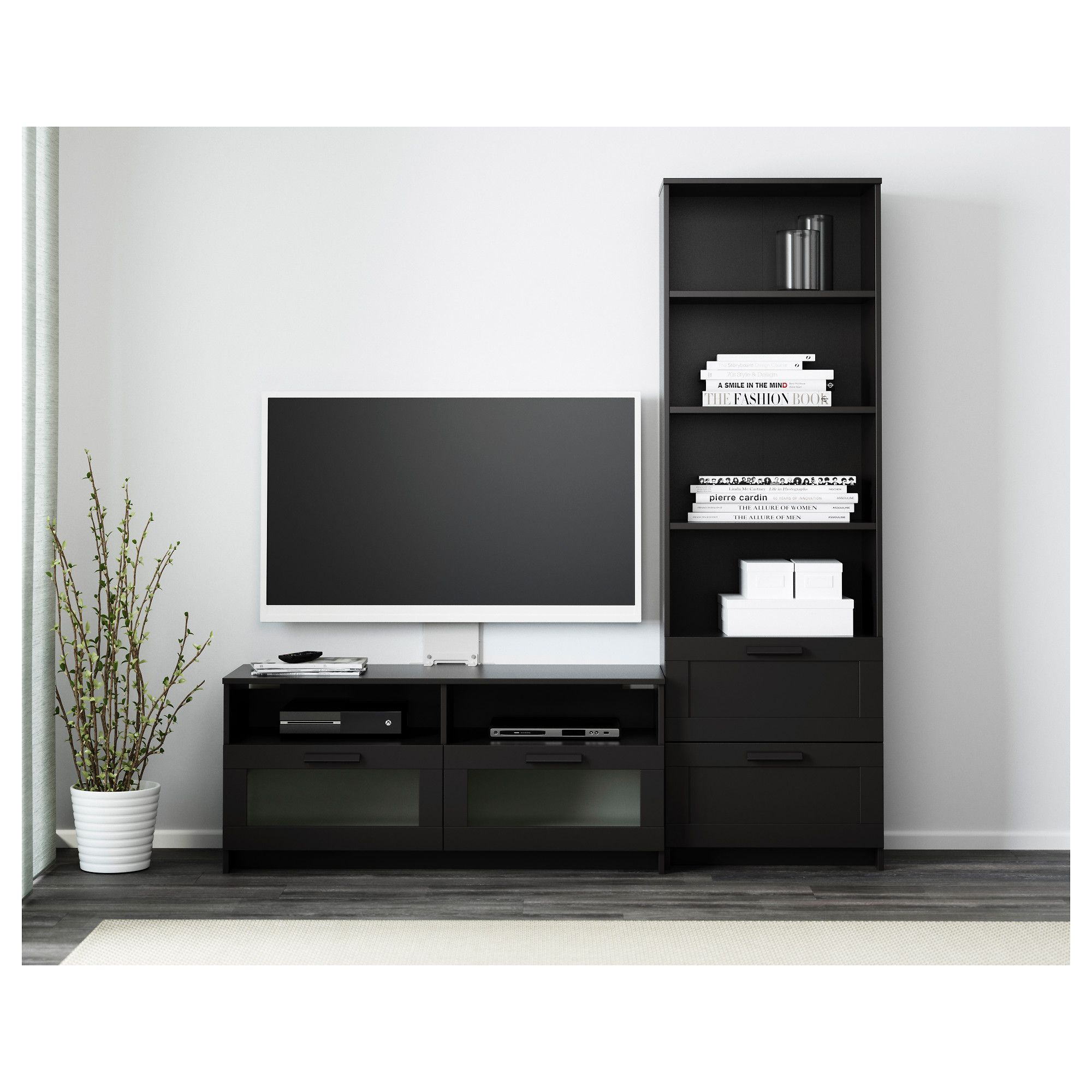 Brimnes Tv Storage Combination Black 70 7 8x16 1 8x74 3 4