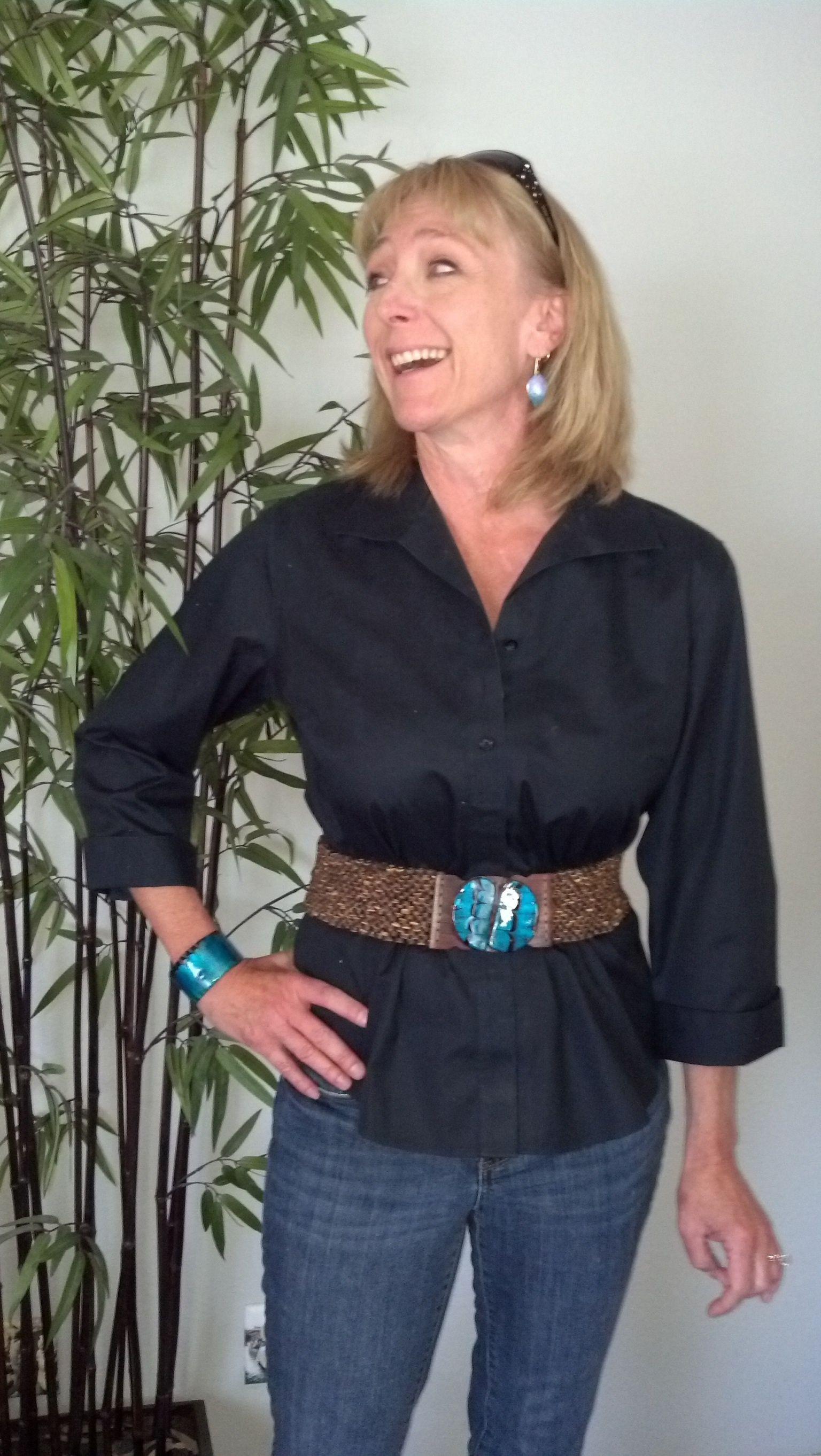 Resin Cuff Bracelet and Stretch Belt