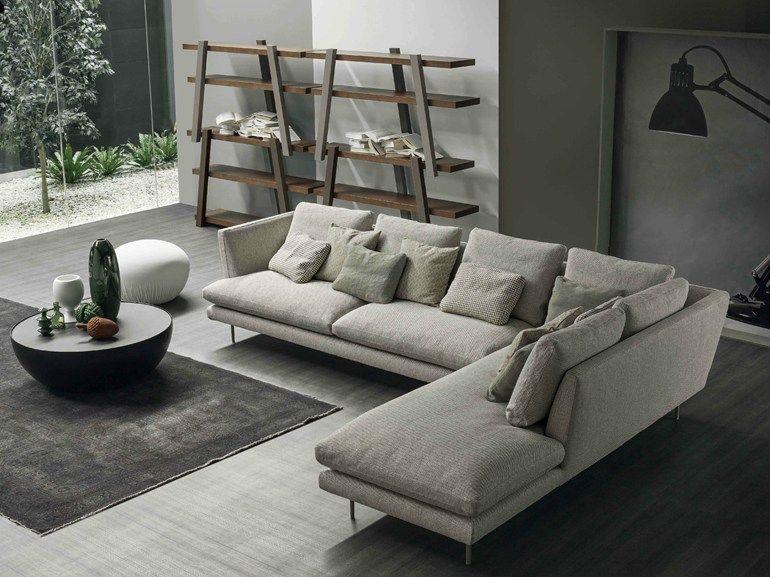 Divano grigio ~ Divano angolare sfoderabile con chaise longue bonaldo