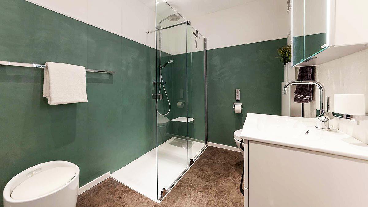 Badezimmer Duschsitz Walk In Dusche Und Duschtrennwand