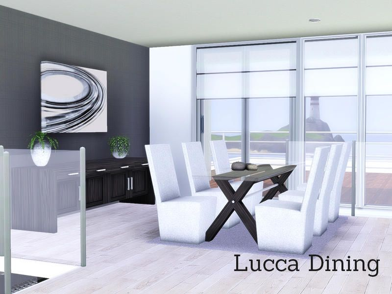 Lucca Dining A Modern Room Found In TSR Category Sims 3