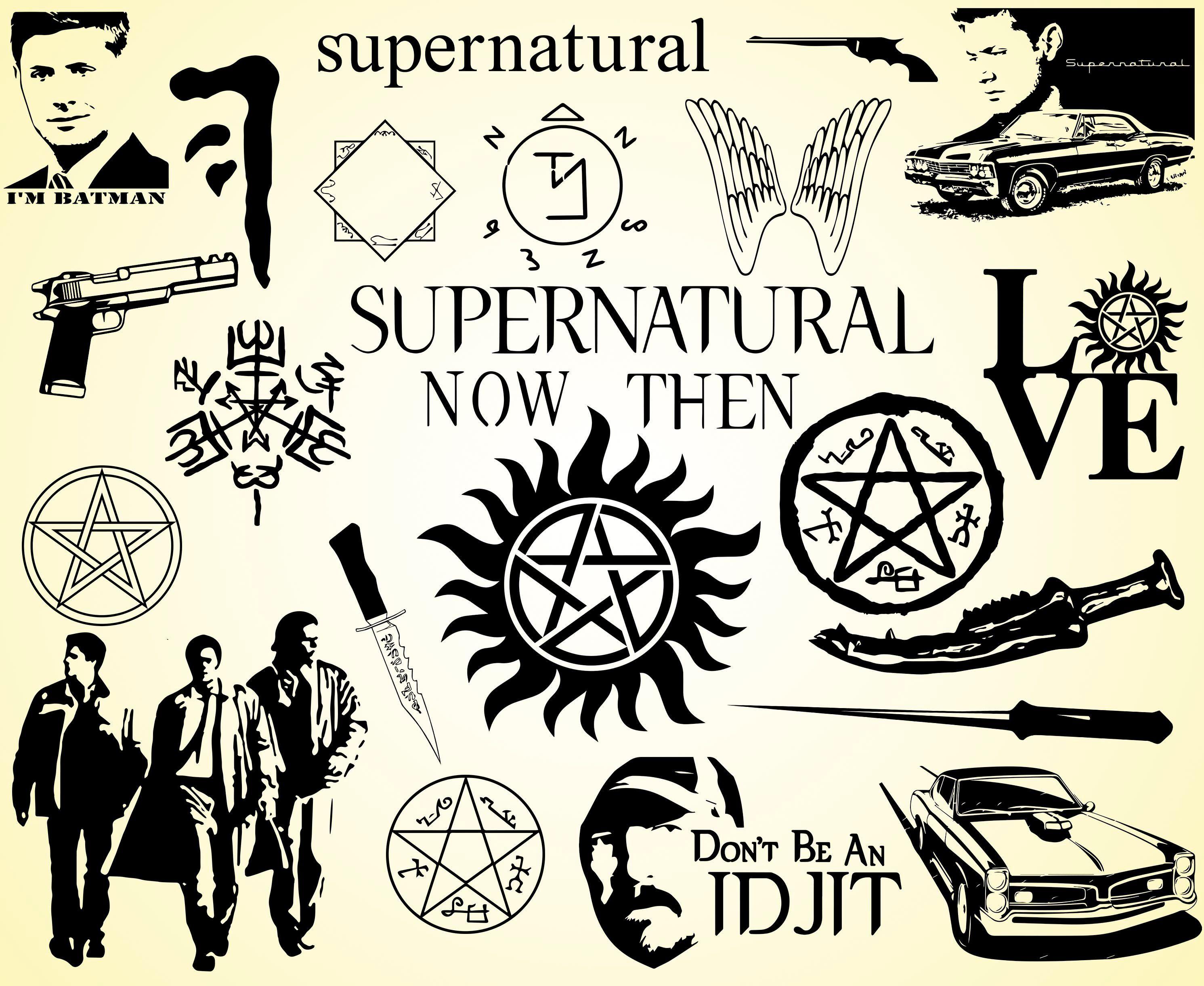 Supernatural svg Dean svg Sam svg Winchester svg