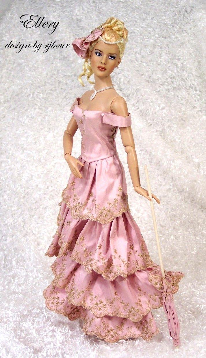 Joseph blue lace doll dress