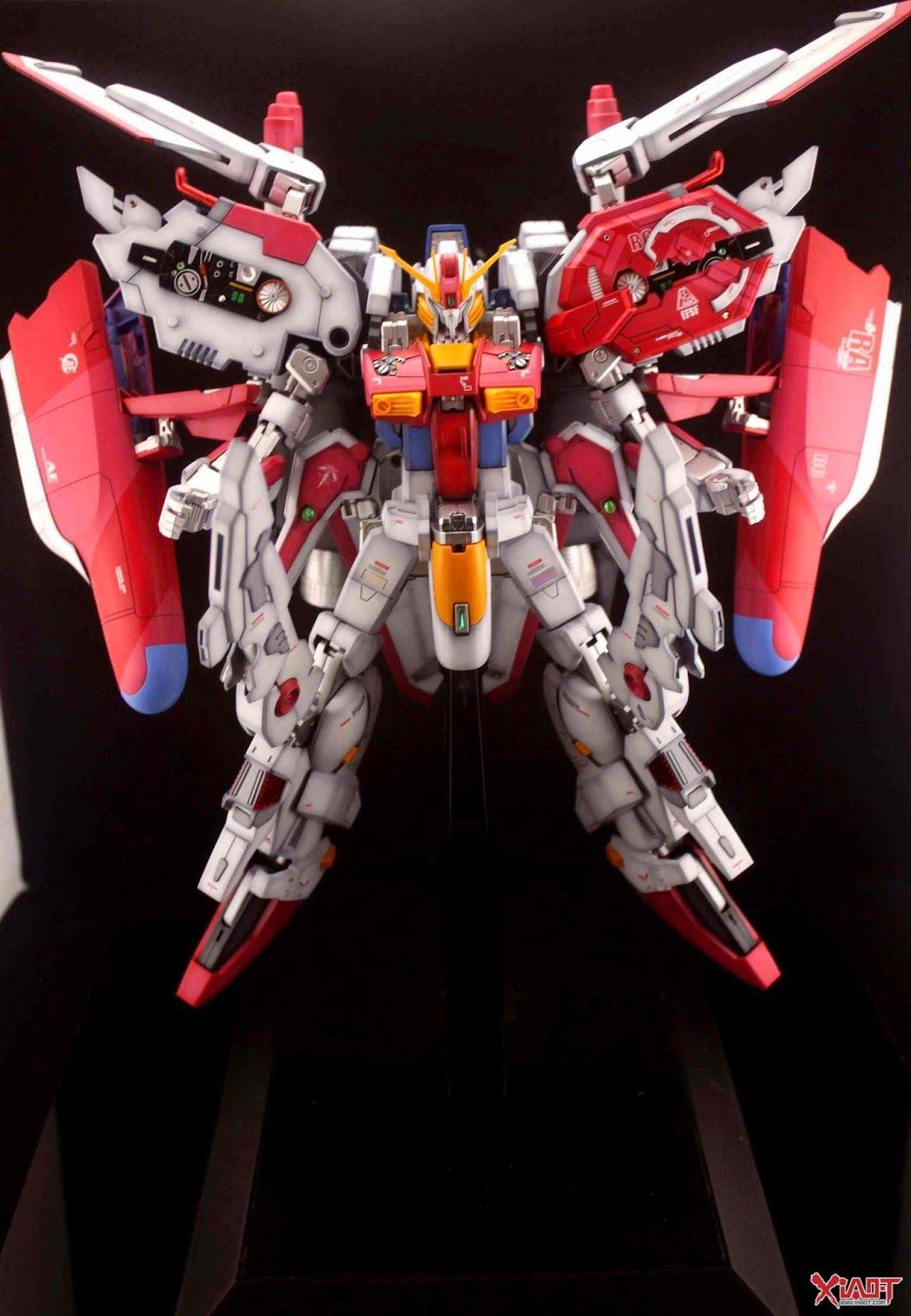 MG 1/100 ExS Gundam Flaming Red Colors Custom Build