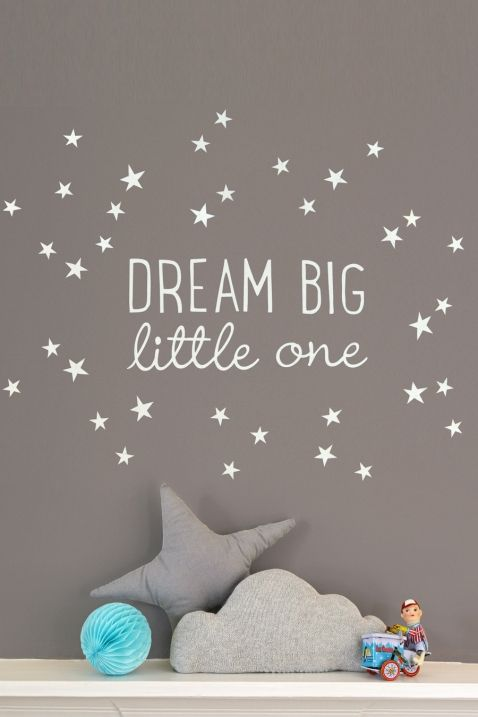 wandsticker dream big little one wohnen ideen pinterest kinderzimmer kinderzimmer ideen. Black Bedroom Furniture Sets. Home Design Ideas