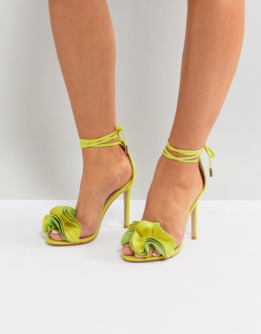 c38a85aeaf1 Public Desire Sugar Lime Heeled Sandals | Heeled Sandals in 2019 ...