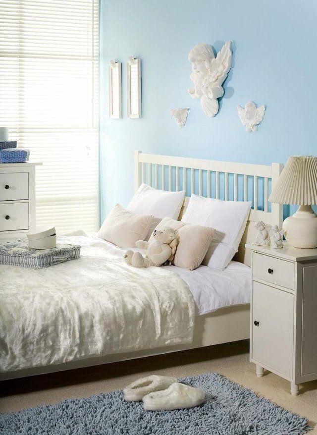 peinture-murale-couleur-bleu-claire | Chambre adulte | Pinterest ...