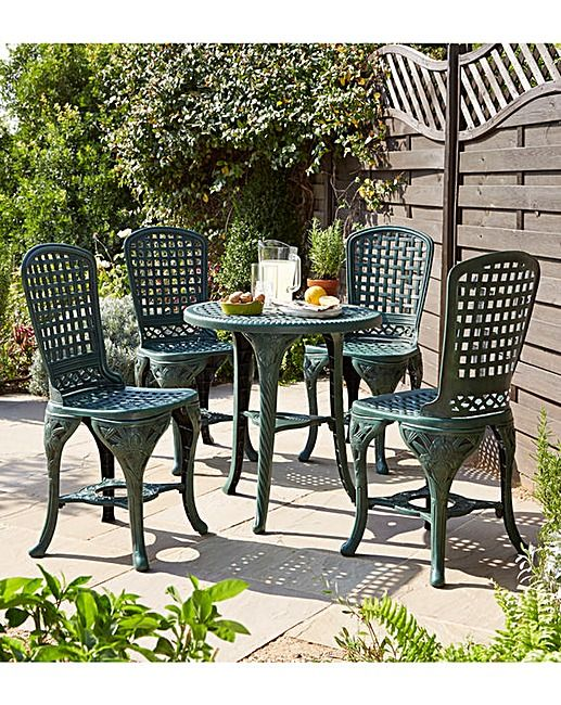 Classico Outdoor Garden Dining Set 5 Piece Table And Chair Patio Furniture New