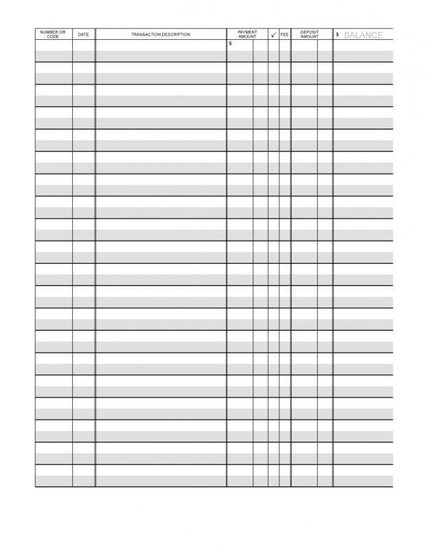 Free Checkbook Register Printable Check Register Checkbook Register Check Register