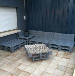 Diy salon de jardin en palette - Mailleraye.fr jardin