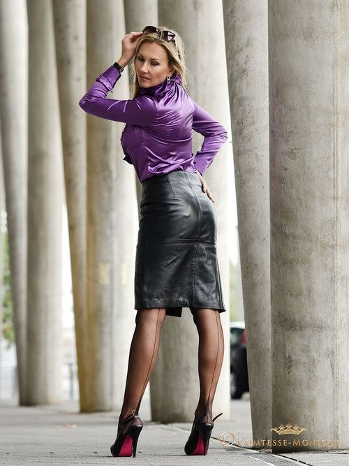 Beauty at Work | Leather Dresses | Pinterest | Leather skirts and ...