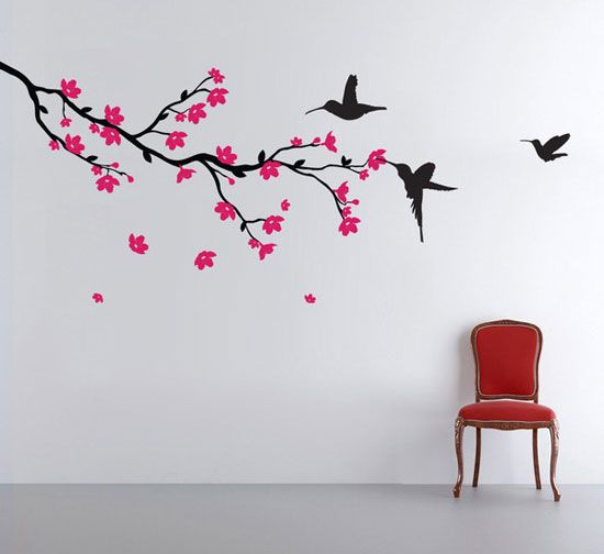 50 Beautiful Designs Of Wall Stickers Wall Art Decals To Decor Your Bedrooms Wall Painting Decor Simple Wall Paintings Bedroom Wall Paint