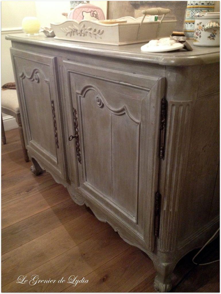 Patine l 39 ancienne sur un buffet en ch ne massif projets essayer mobilier de salon - Meuble chene massif ancien ...