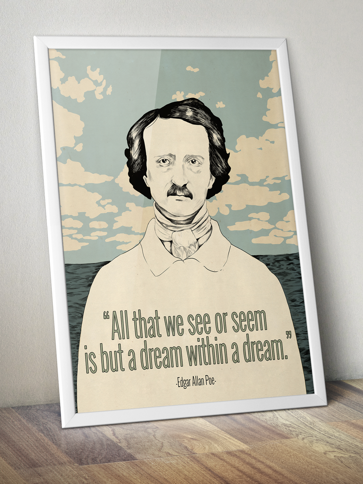 Edgar Allan Poe Art Printable Wall Art Dream Within A Dream Etsy In 2020 Edgar Allan Poe Art Printable Wall Art Etsy Wall Art