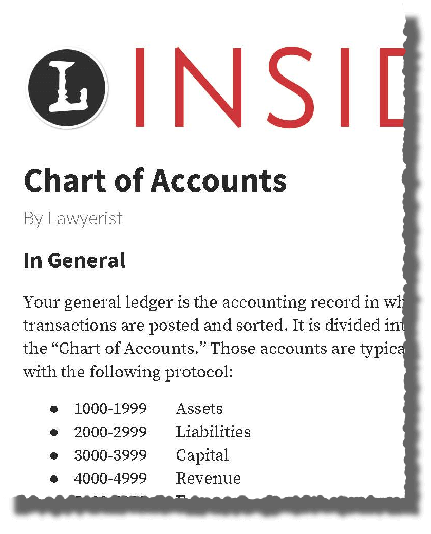 Chart of Accounts Template | Lawyers News And Updates