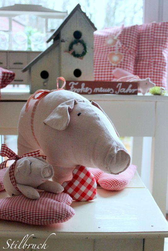 Swine! | Tilda, Maileg und Co. | Pinterest | Schweinchen, Nähideen ...